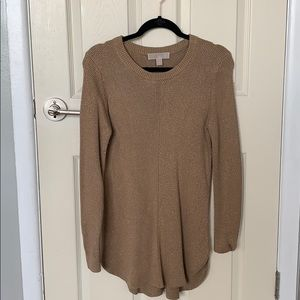 Michael Kors Camel and Gold knit sweater